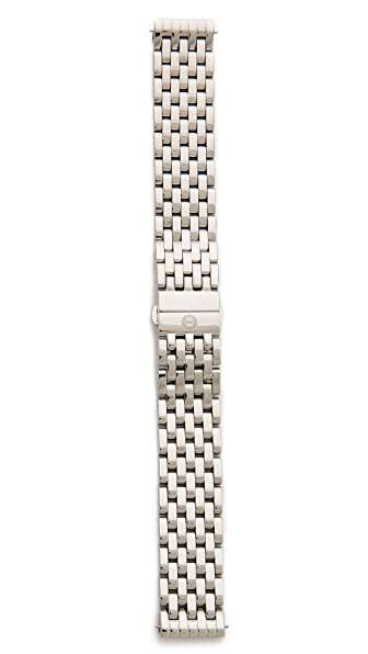 MICHELE Deco 18mm 7 Link Bracelet Watch Strap