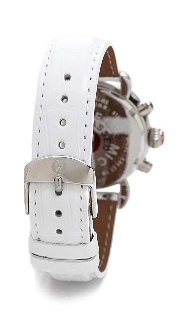 MICHELE 18mm Alligator Watch Strap