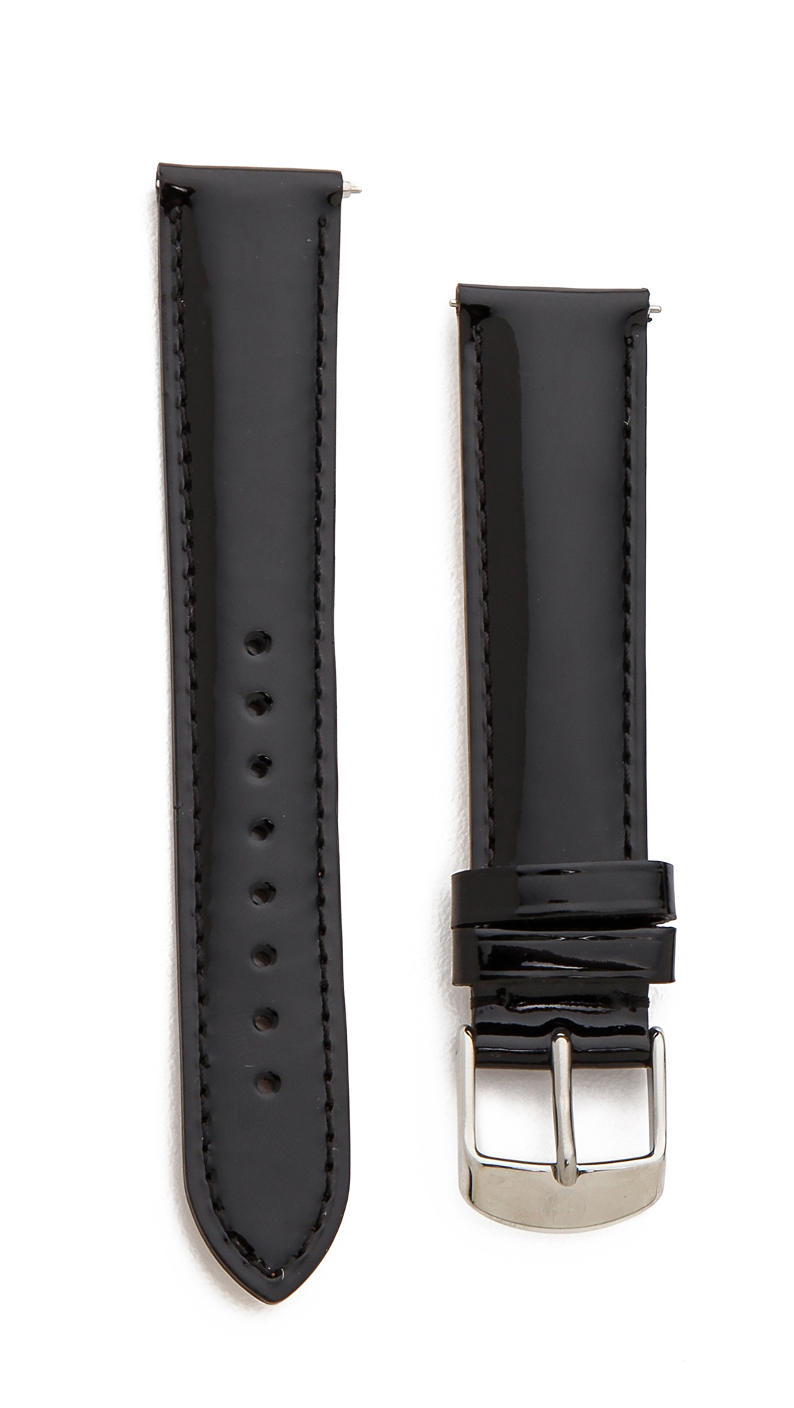 b05182d16 MICHELE 18mm Patent Leather Watch Strap on PopScreen