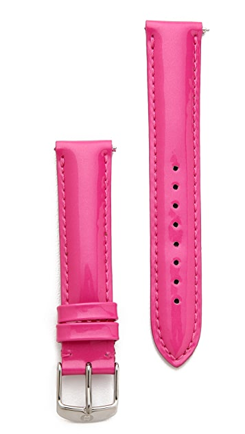 MICHELE 18mm Patent Leather Watch Strap
