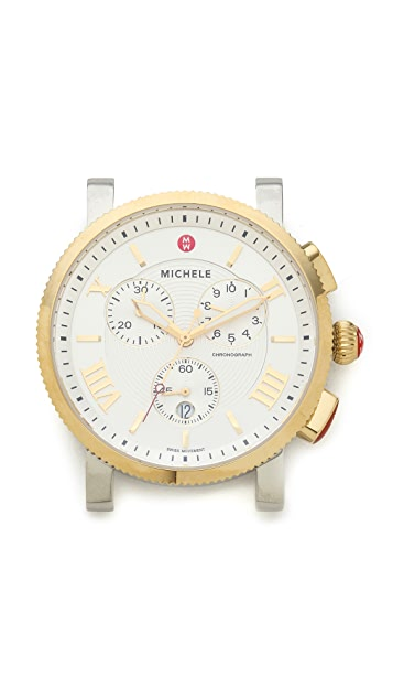 MICHELE Sport Sail Large Two Tone Dial Watch