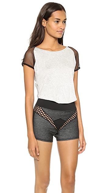 MICHI Butterfly Crop Top
