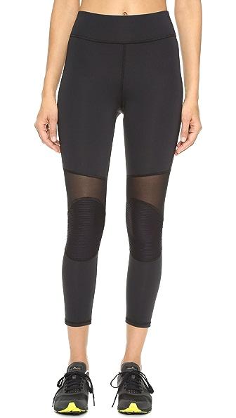 MICHI Ballistic Crop Leggings - Black