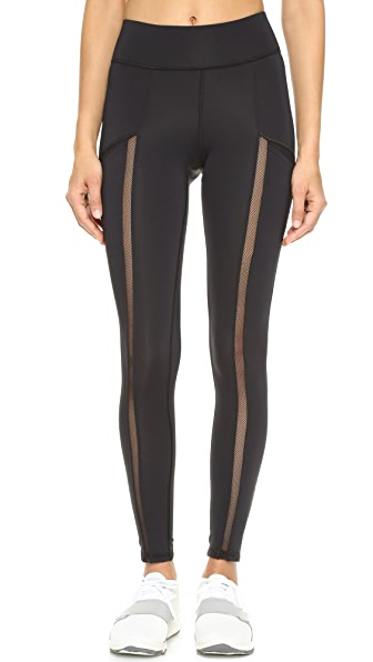 MICHI Borderline Pocket Leggings - Black