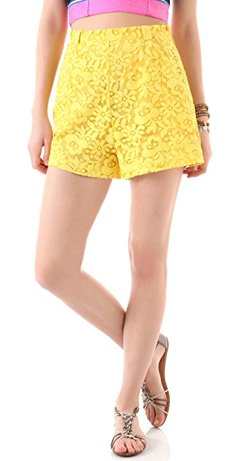 Miguelina Jenna Rose Lace Shorts