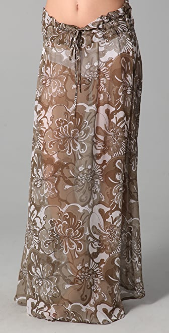 MIKOH East Hampton Long Silk Skirt Cover Up