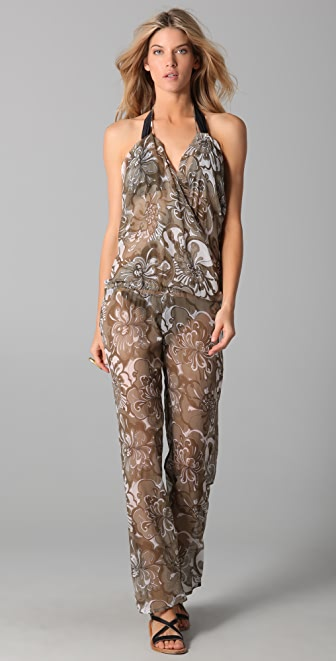 MIKOH Copacabana Silk Jumpsuit Cover Up