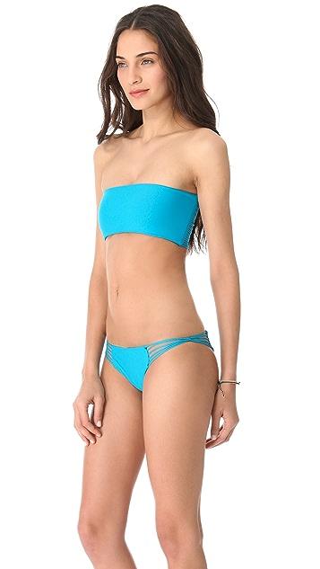 MIKOH Tropicana Bandeau Bikini Top
