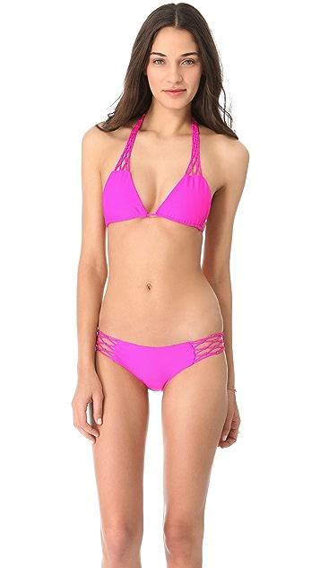 MIKOH Coconuts Triangle Tie Bikini Top