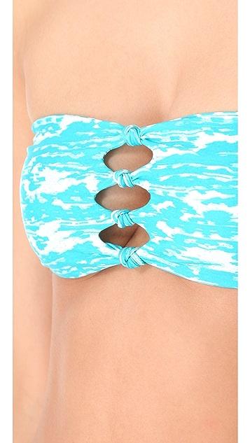 MIKOH Monaco Cutout Bandeau Bikini Top