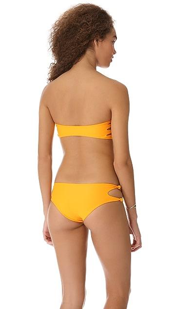 MIKOH Monaco Cutout Knot Bandeau Bikini Top