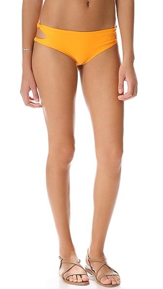 MIKOH Todos Santos Cutout Knot Bikini Bottoms