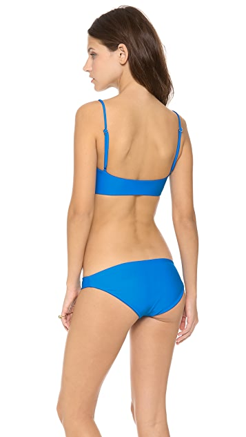 MIKOH Bordeaux Bandeau Bikini Top