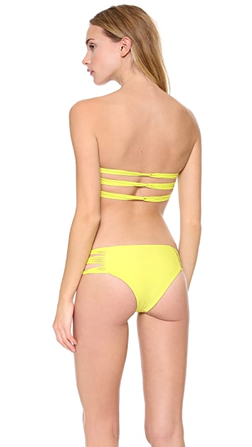 MIKOH Sunset Triple Looped Bandeau Top