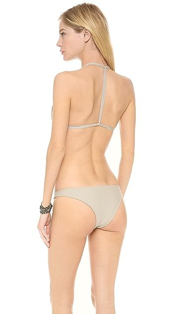 MIKOH Uluwatu T Strap Bikini Top