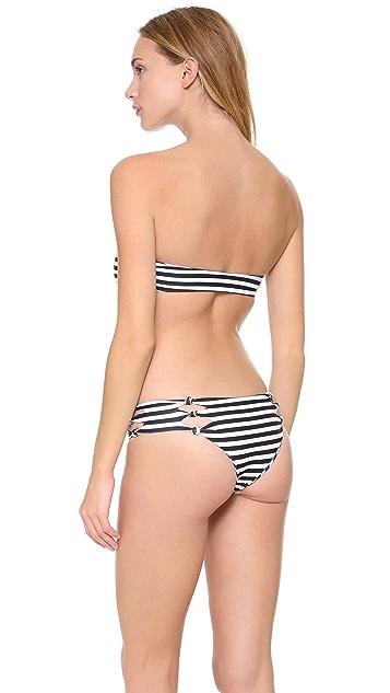 MIKOH Monaco Bandeau Bikini Top