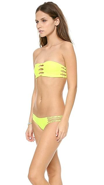 MIKOH Monaco Knot Detailed Bandeau Bikini Top