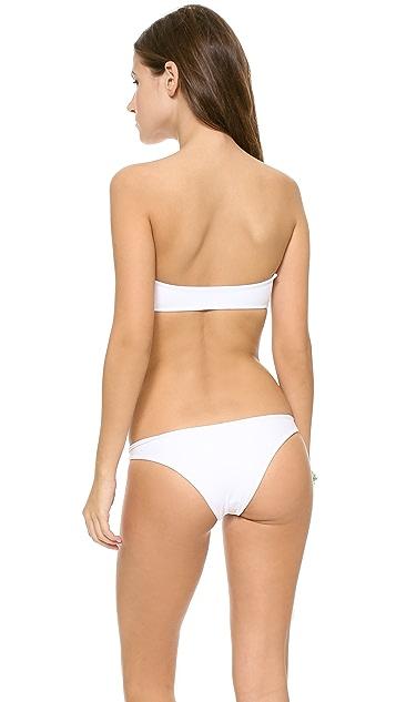 MIKOH Bordeaux Padded Bikini Top