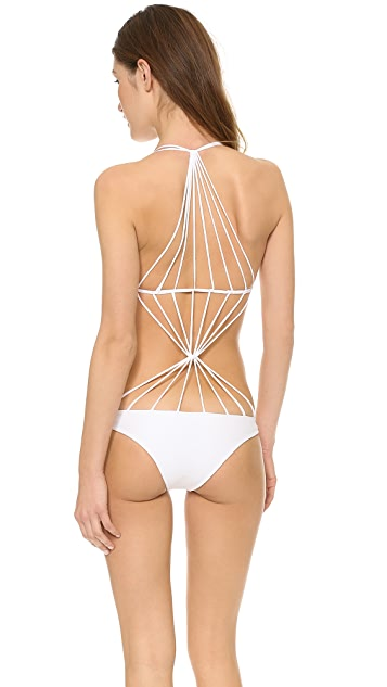 MIKOH Seychelles Crisscross String Back Swimsuit