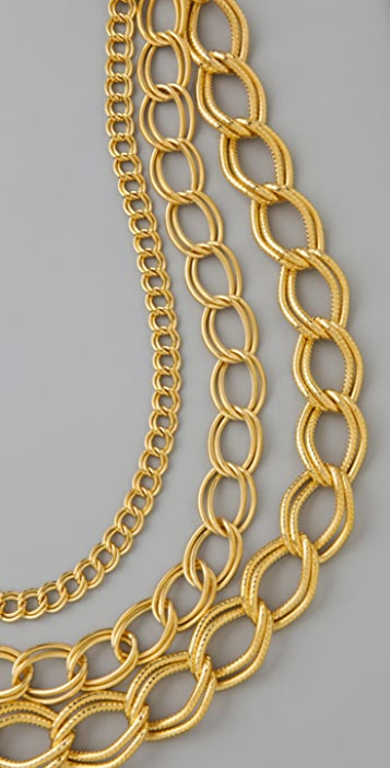 Milly Layered Chains Necklace