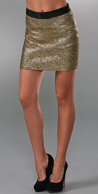 Milly Combo Miniskirt