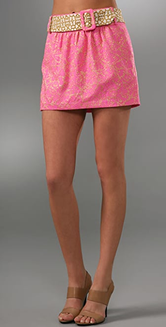 Milly Belted Miniskirt