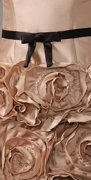 Milly Strapless Rose Dress