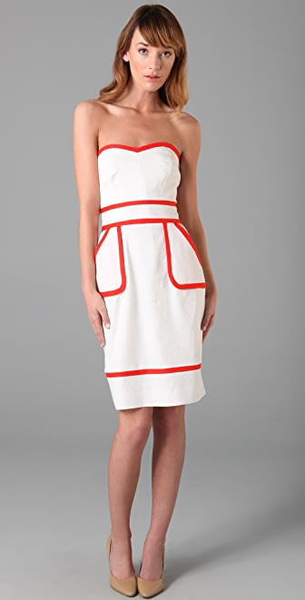 Milly Kerri Strapless Dress