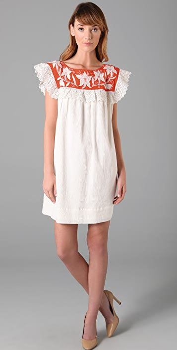 Milly Marlena Ruffle Dress