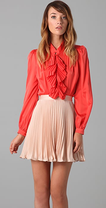 Milly Alizee Pleated Blouse