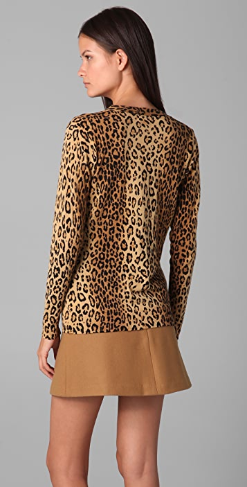 Milly Leopard Aimee Cardigan