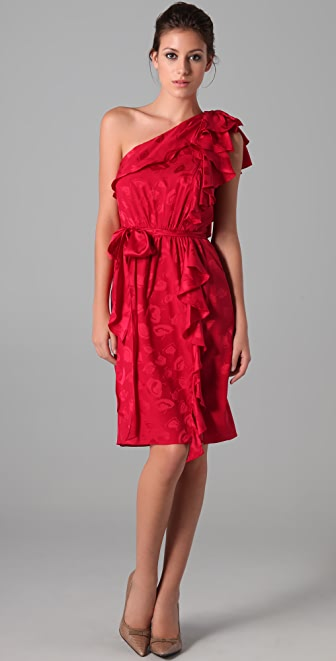 Milly Lotta Ruffle Dress