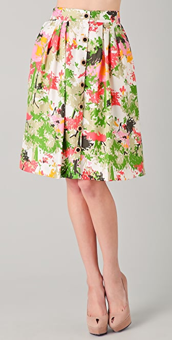 Milly Bianca Birch Tree Print Skirt