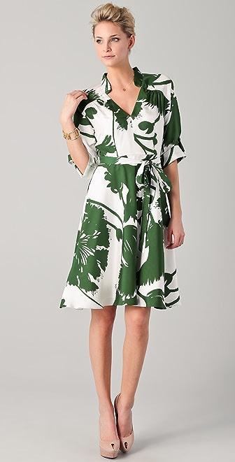 Milly Belted Thistle Print Karolina Dress