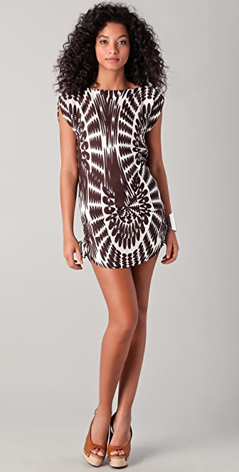 Milly Chloe Print Drawstring Tie Dress
