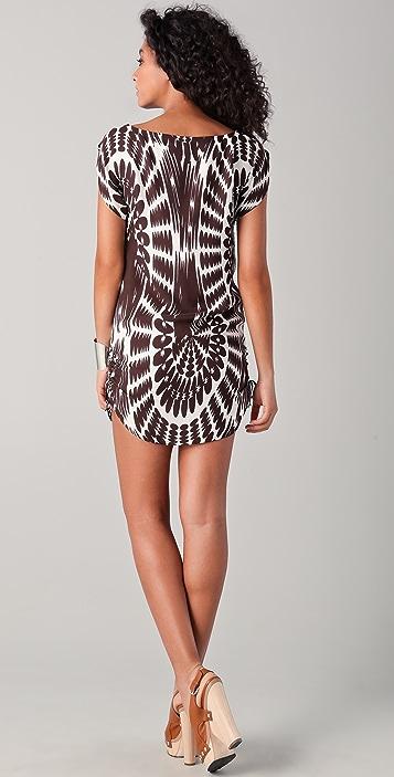 Milly Chloe Print Drawstring Tie Dress