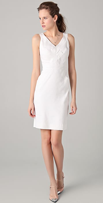 Milly Basket Weave Sheath Dress