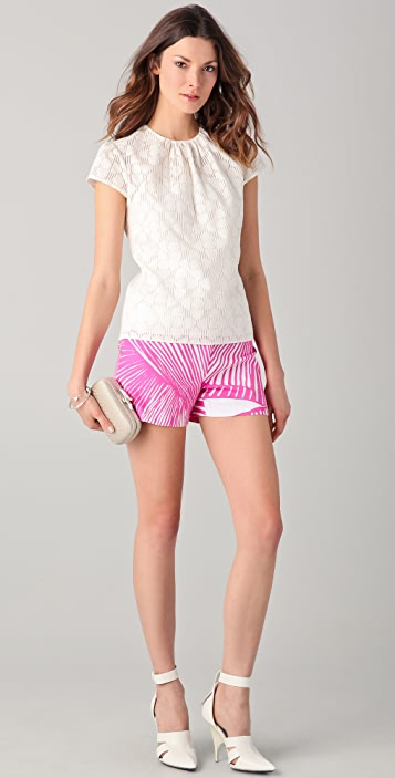 Milly Shell Print Mini Shorts