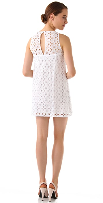 Milly Floral Eyelet Shift Dress