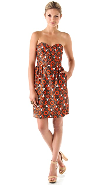 Milly Mabry Strapless Dress