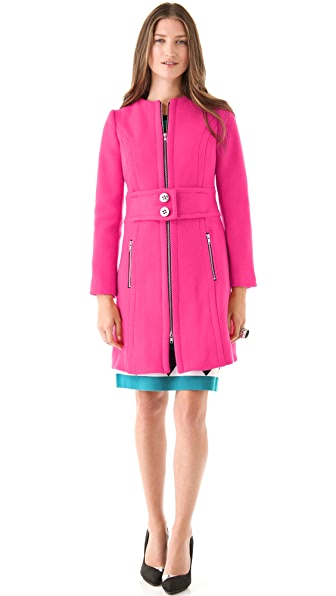 Milly Bo Zipper Coat