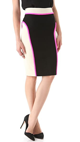 Milly Chiara Skirt with Neon Trim