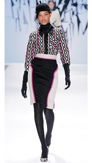 Milly Chiara Skirt with Neon Trim