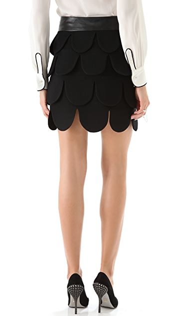 Milly Cleo Petal Skirt