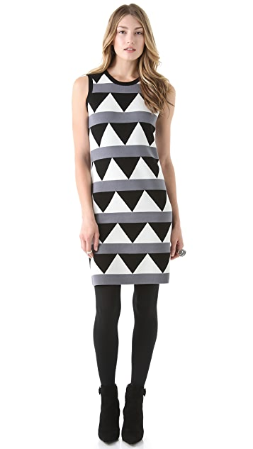 Milly Geo Pop Sleeveless Dress