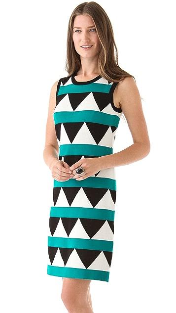 Milly Geo Pop Sleeveless Dress