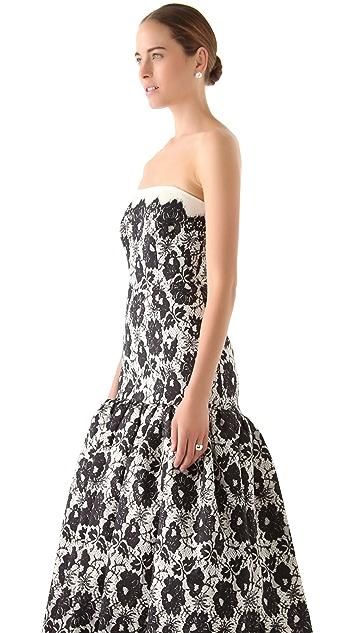 Milly Allegra Strapless Gown