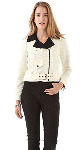 Milly Combo Moto Jacket