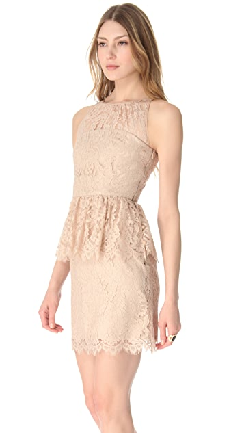 Milly Liza Peplum Lace Dress