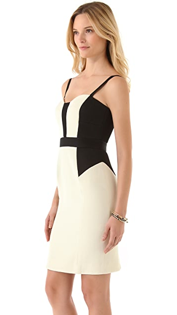 Milly Colorblock Bustier Dress